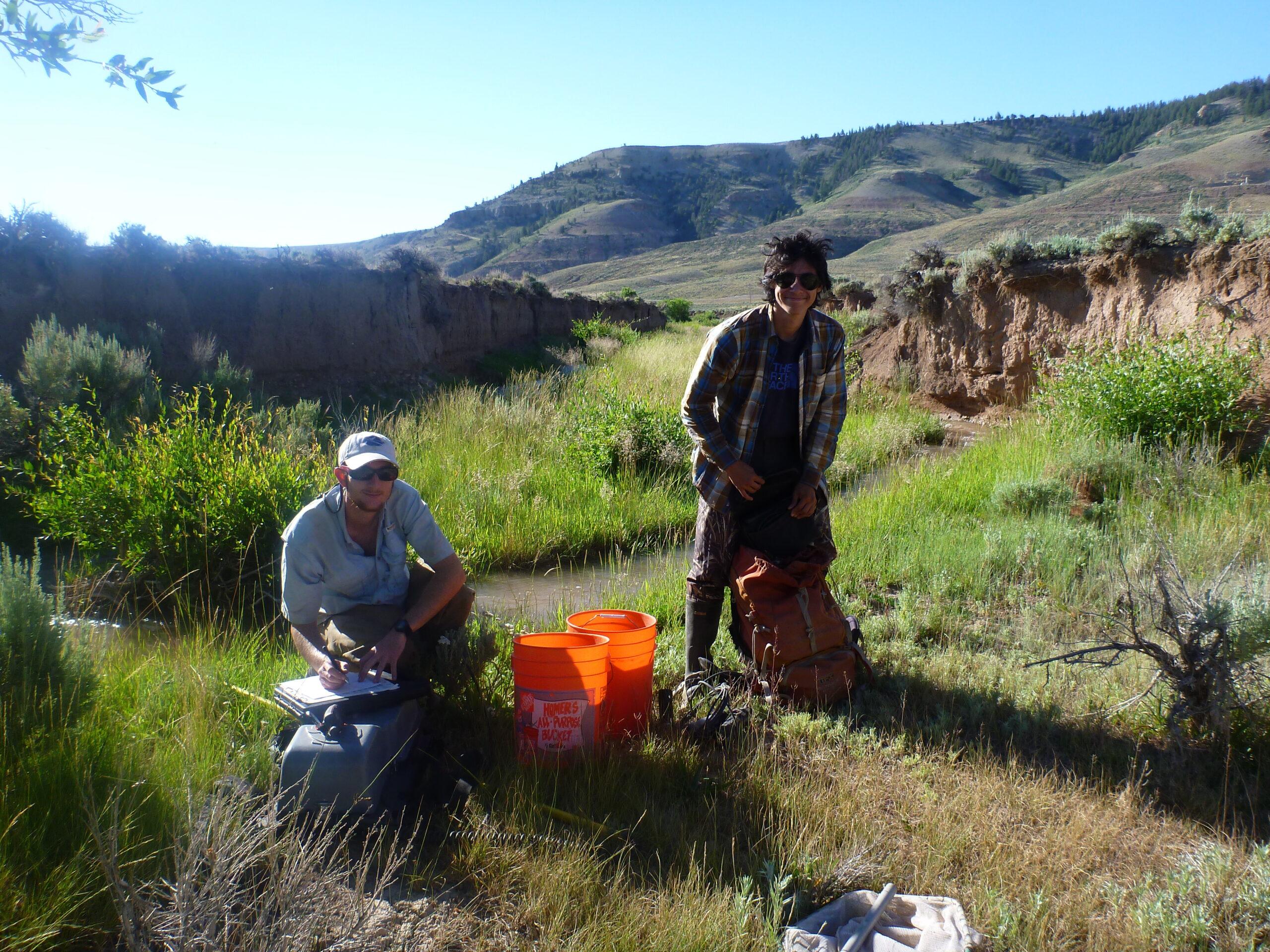 Rich Walker at field site
