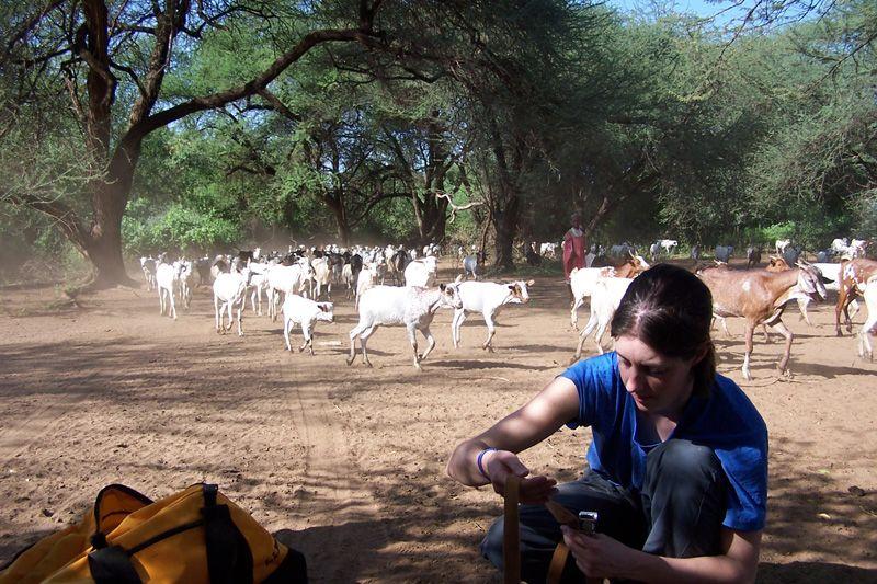 Conducting research on savanna regeneration on the Shompole Maasai Group Ranch in southern Kenya