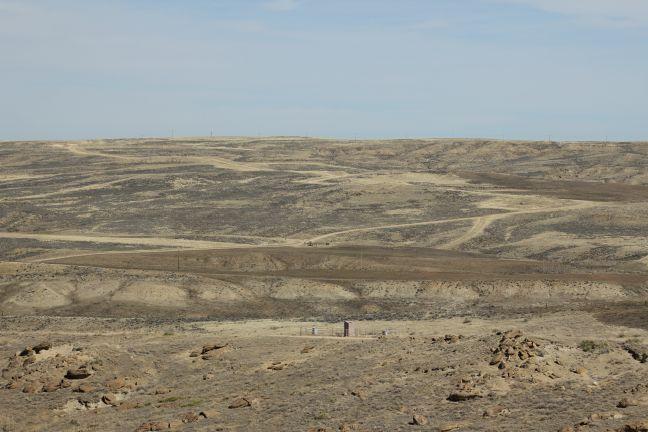 Development across the landscape in the Powder River Basin.
