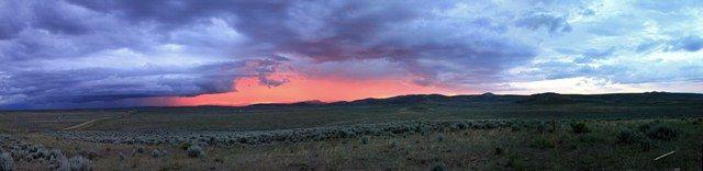 Sunset in the sagebrush steppe.